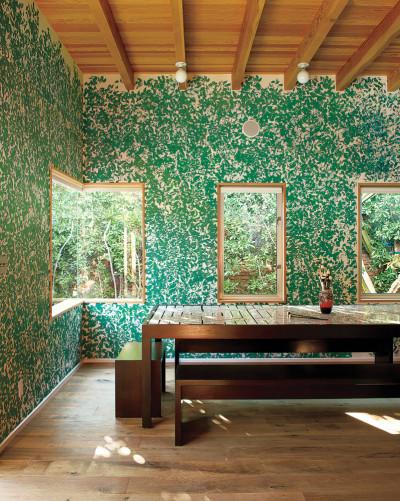 leafy walls
