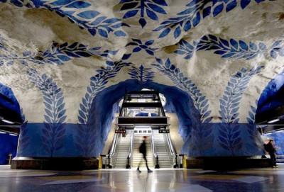 stockholm subway mural